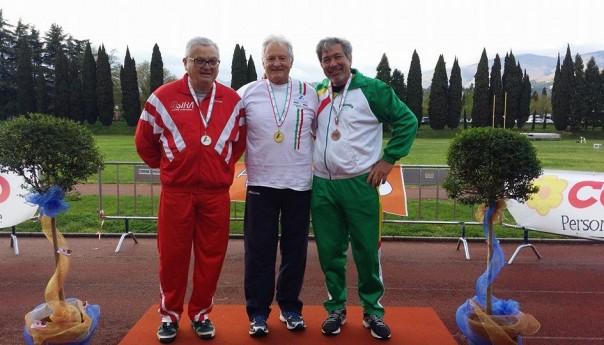 Monumentale Di Stefano: a Pistoia nuovo titolo Tricolore nel Pentathlon Lanci Master