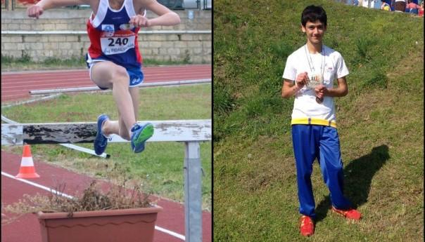 I giovanissimi Samuele Licata e Roberto Bruno alla Sapori di Corsa di Oschiri
