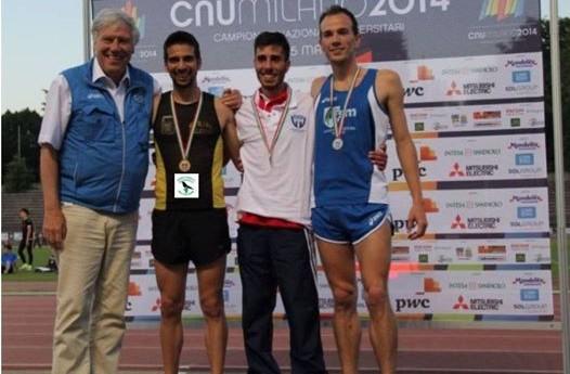 Campionati Italiani Universitari: Giorgio Scialabba terzo nei 5000