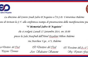 Lunedì 15 settembre la presentazione del Memorial Salvo D'Acquisto