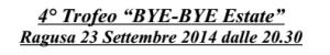 A Ragusa per il 4° Trofeo BYE-BYE Estate
