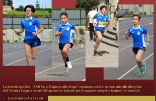 Corsi di Atletica Leggera dell' Associazione Sportiva No al Doping