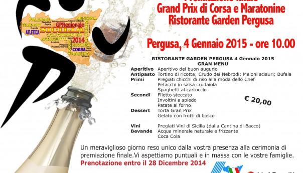 Il 4 gennaio premiazione finale GP Sicilia di Corsa e Maratonine: è ancora possibile prenotare il pranzo