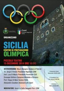 La Sicilia per la preparazione olimpica. A Paternò la conferenza