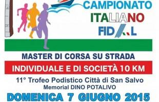 A San Salvo (CH) i tricolori Master sui 10 km