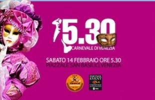 Una 5.30 in maschera a Venezia per il Carnevale