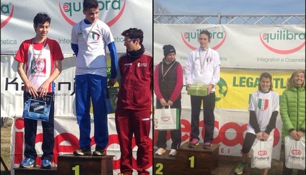 Ai Campionati Italiani di Cross Uisp brillano il giovane Renda e mamma Bennici