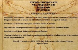 A Palermo un seminario di osteopatia, massoterapia e nutrizione