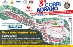 Domenica 4 ottobre la terza edizione della CorriAdrano