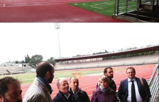 Firenze: primi passi sulla pista di atletica del Ridolfi