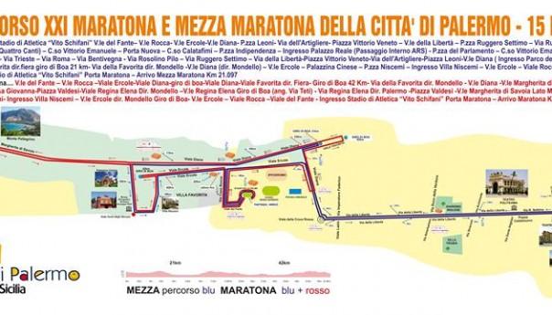 Maratona Città di Palermo: lieve variazione al percorso