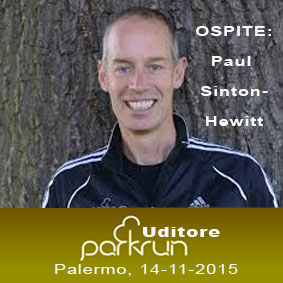 Paul Sinton-Hewitt all'Uditore ParkRun
