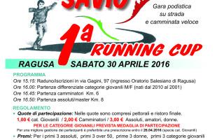 Il 30 aprile la 1^ S. Domenico Savio Running Cup