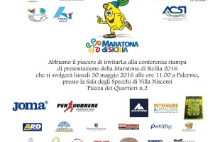 Lunedì 30 maggio si presenta la Maratona di Sicilia