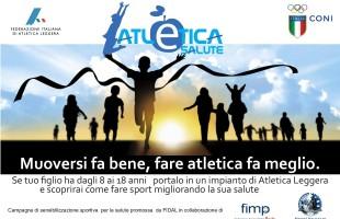 Lunedi si presenta il progetto Atletica è Salute