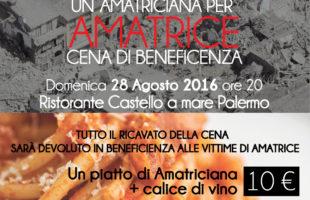 Un'Amatriciana per Amatrice: cena di beneficenza per le vittime del terremoto