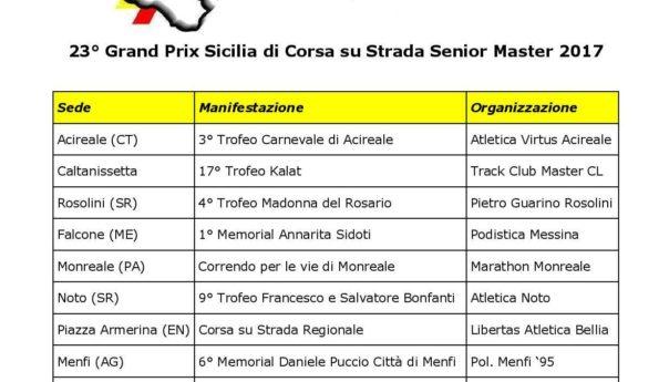 23° Grand Prix Sicilia di Corsa su Strada S/M: le 11 GARE