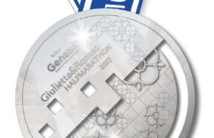 La medaglia della Gensan Giulietta&Romeo Half Marathon
