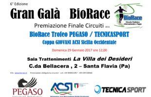 Domenica 29 gennaio il Gran Galà BioRace