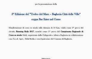 Lunedì 27 marzo si presenta il 5° Trofeo del Mare - Bagheria Città delle Ville