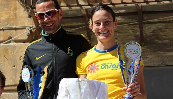 Yuri Floriani e Barbara Bennici fanno festa al Trofeo Equlibra Running Team
