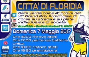 Il 7 maggio si corre il Trofeo Città di Floridia