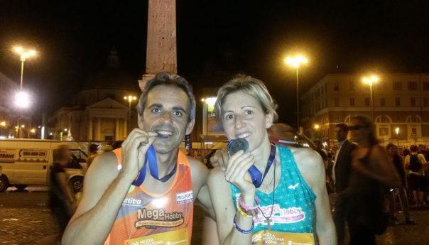Liliana Scibetta seconda (SF40) alla Mezza Maratona di Roma. Podi siciliani nella 10 km