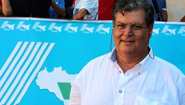 Il neo presidente della Fidal Sicilia Nicola Siracusa al microfono della Cus Palermo TV...