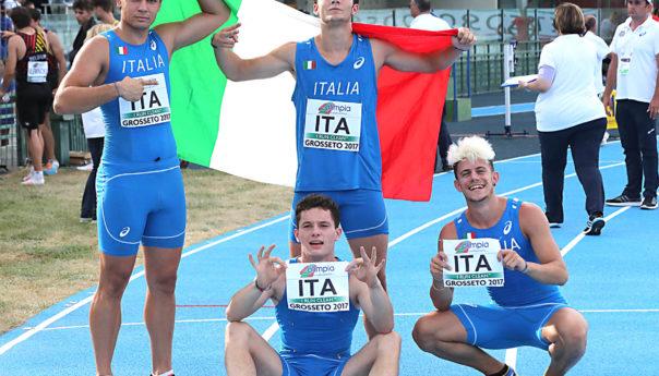 Europei U20. Tortu, Zlatan, Artuso e Marchei: argento e record nella 4x100