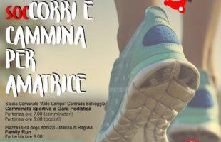 Il 3 settembre 'soc…Corri e Cammina per Amatrice'
