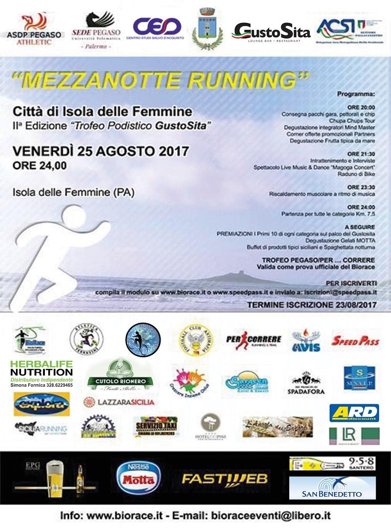 0d66f604d144 Venerdì la Mezzanotte Running Città di Isola delle Femmine - Sicilia ...