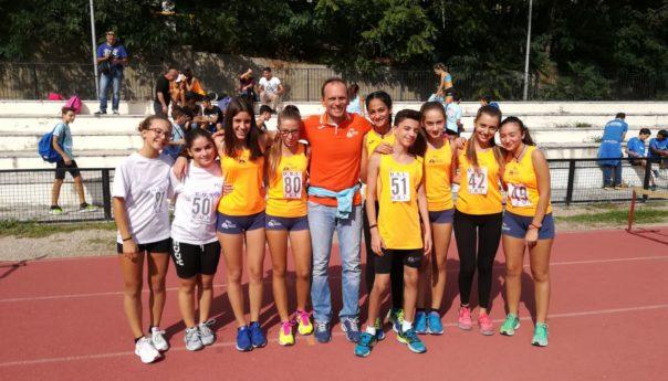 Atletica Savoca sul podio con le ragazze al campionato regionale