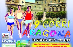 Domenica la 9a Corri Aragona: quasi 200 gli atleti al via